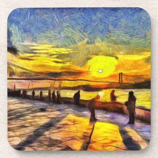 Bosphorus Istanbul Sonnenuntergang-Kunst Getränkeuntersetzer