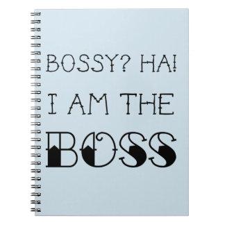 Bossy? Ich bin der Chef! Notizblock-Büro-Geschenk Notizblock