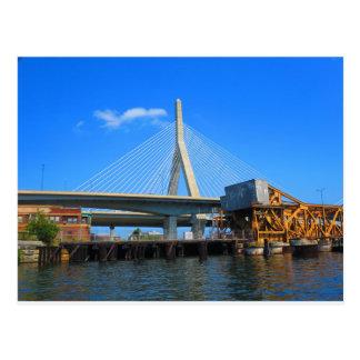 Boston-Brücken-Foto auf Geschenken Postkarte