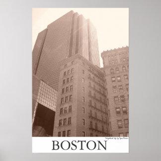 """Boston - """"erleuchtete Stadt """" Poster"""