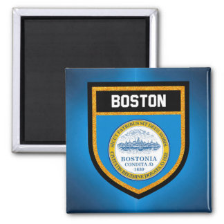 Boston-Flagge Quadratischer Magnet