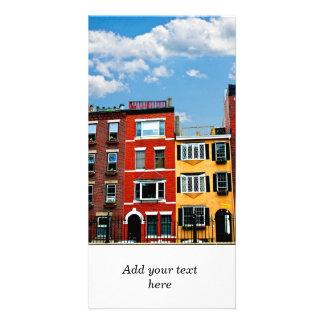 Boston-Gebäude Photo Grußkarte