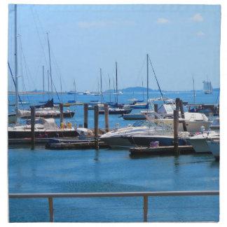 Boston-Hafen-Boots-Segel-SailBoats Seeansichten Serviette