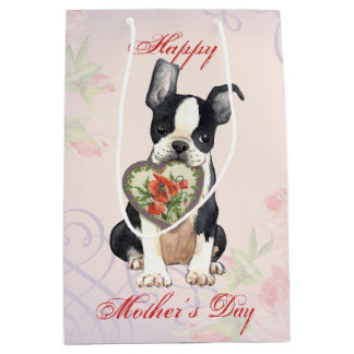 Boston-Herz-Mamma Mittlere Geschenktüte