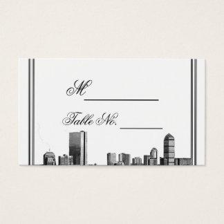Boston-Hochzeit in Urlaubsorts-Platzkarte Visitenkarte
