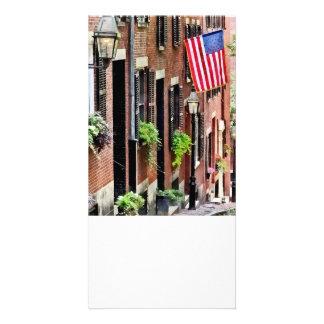 Boston MA - Eichel-Straße Individuelle Photo Karte