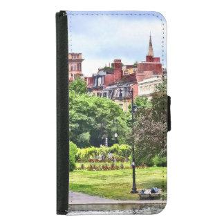 Boston MA - Entspannung in allgemeinem Garten Samsung Galaxy S5 Geldbeutel Hülle