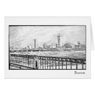 Boston-Skyline, Boston Karte