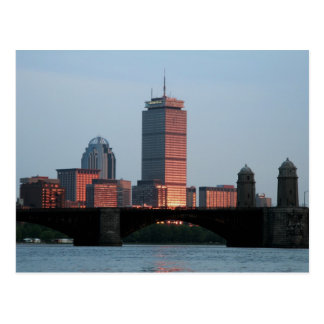 Boston-Skyline Postkarte