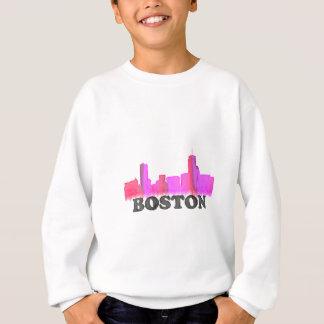 Boston-Skyline-Rosa Sweatshirt