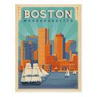 Boston-Skyline u. -Segelboote | Massachusetts Postkarte