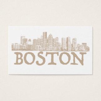 Boston-Stadt-Skyline Visitenkarte