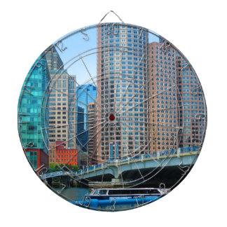 Boston-Stadt städtisches Landcape ragt Dartscheibe