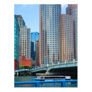 Boston-Stadt städtisches Landcape ragt Postkarte
