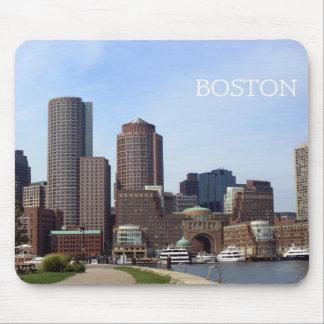 Boston-Stadt-Ufergegend - Mausunterlage Mousepads