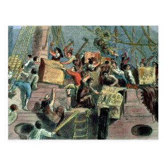 Boston-Tee-Party, am 16. Dezember 1773 Postkarte