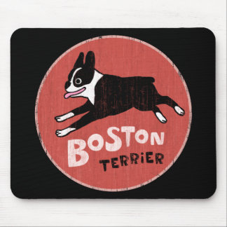 Boston-Terrier-coole Retro Art Mousepads