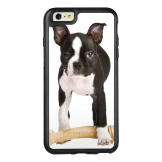 Boston-Terrier, der twisty Knochen schützt OtterBox iPhone 6/6s Plus Hülle