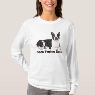 Boston-Terrier-Freund-Damen-T - Shirt