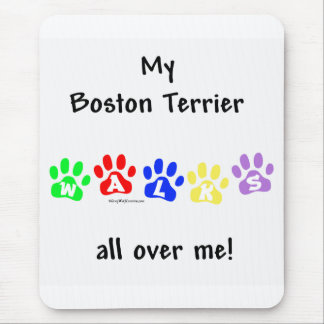 Boston Terrier geht ganz über mich Mousepad