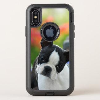 Boston-Terrier-Hundeniedlicher OtterBox Defender iPhone X Hülle