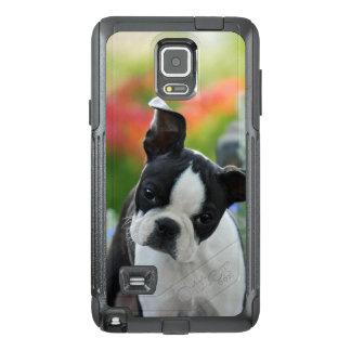 Boston-Terrier-Hundeniedliches Welpen-Porträt -