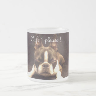 Boston Terrier Kaffeebecher Mattglastasse