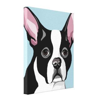 Boston-Terrier-Leinwand-Kunst Leinwanddruck