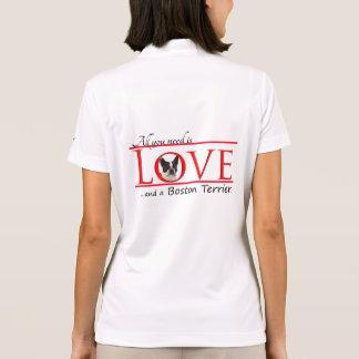 Boston-Terrier-LiebeHoodie Polo Shirt