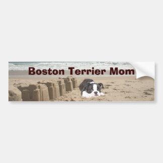 Boston-Terrier-Mamma-AutoaufkleberSandcastles Autoaufkleber