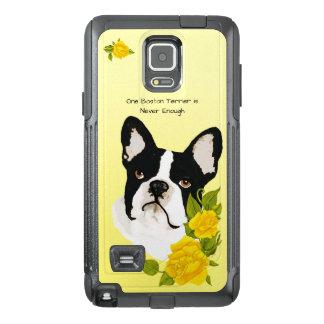 Boston-Terrier, mit gelben Rosen