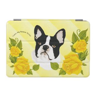 Boston-Terrier mit gelben Rosen iPad Mini Hülle