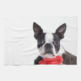 Boston Terrier Mollie Mäusekind Handtuch