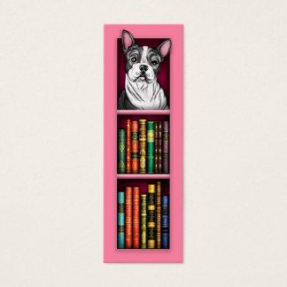 Boston-Terrier-Rosa-Lesezeichen Mini Visitenkarte