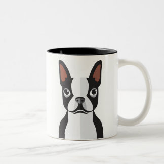 Boston-Terrier-Tasse Zweifarbige Tasse
