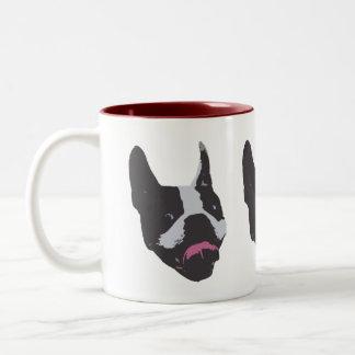 Boston-Terrier-Tasse Zweifarbige Tasse
