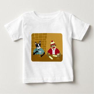 Boston Terrier u. Socken-Affe Baby T-shirt