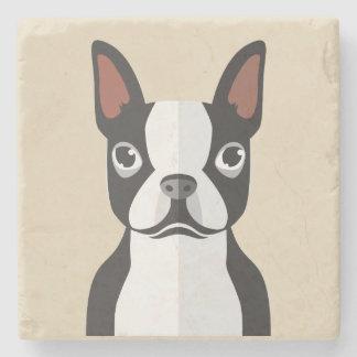 Boston-Terrier-Untersetzer Steinuntersetzer