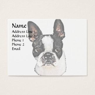 Boston Terrier Visitenkarte