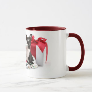 Boston-Terrier-WeihnachtsTasse Tasse