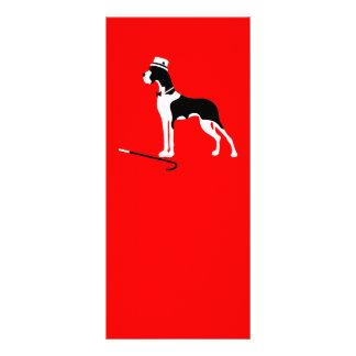 Boston-Umhang-Deutsche Dogge Werbekarte