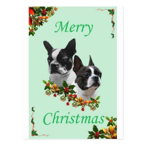Boston-Weihnachten Postkarte