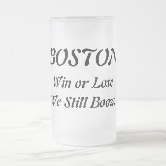 BostonBoozers Mattglas Bierglas