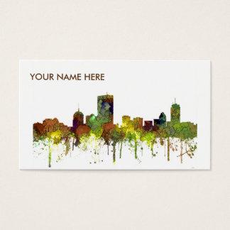 BostonMas. Skyline-Safari-Büffelleder Visitenkarte