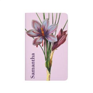 Botanik: Safran Taschennotizbuch