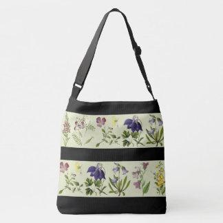 Botanische alpine Blumen-Blumentasche Tragetaschen Mit Langen Trägern