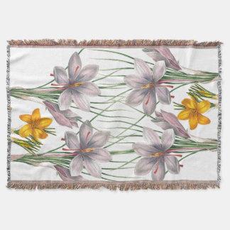 Botanische Blumen-Vintager mit Blumengarten Decke