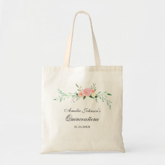 Botanische BlumenWatercolor Quinceanera Tragetasche
