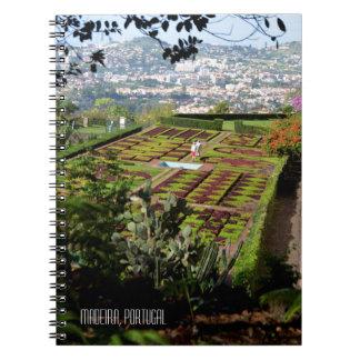 Botanische Gärten Madeira Portugal Funchals Spiral Notizblock