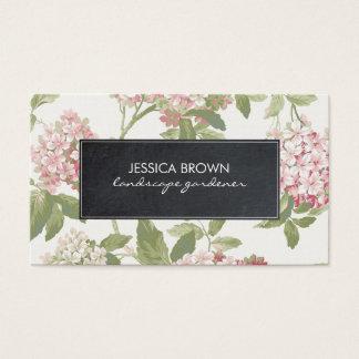 botanische Hydrangea-mit BlumenVisitenkarte Visitenkarte